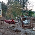 20151102 Works at Dooneen at the Bridge on the Breifne Beara Way 01