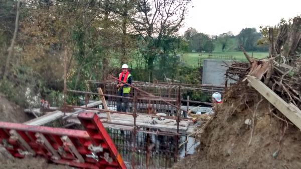 20151102 Works at Dooneen at the Bridge on the Breifne Beara Way 02