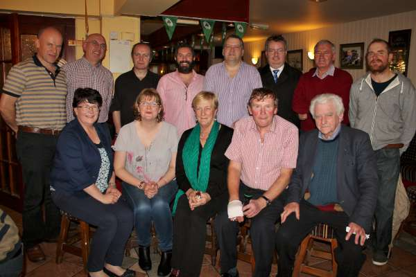 At McCarthy's Bar on Friday, 6th Nov. 2015 a wonderfully successful Fianna Fáil Quiz was held in aid of St. Joseph's Community Hospital, Millstreet which realised a most impressive €850.00 for the praiseworthy cause. Pictured here are the two winning Teams who very kindly donated their winnings back to the overall fund. Also included are the Organisers. click on the images to enlarge. (S.R.)