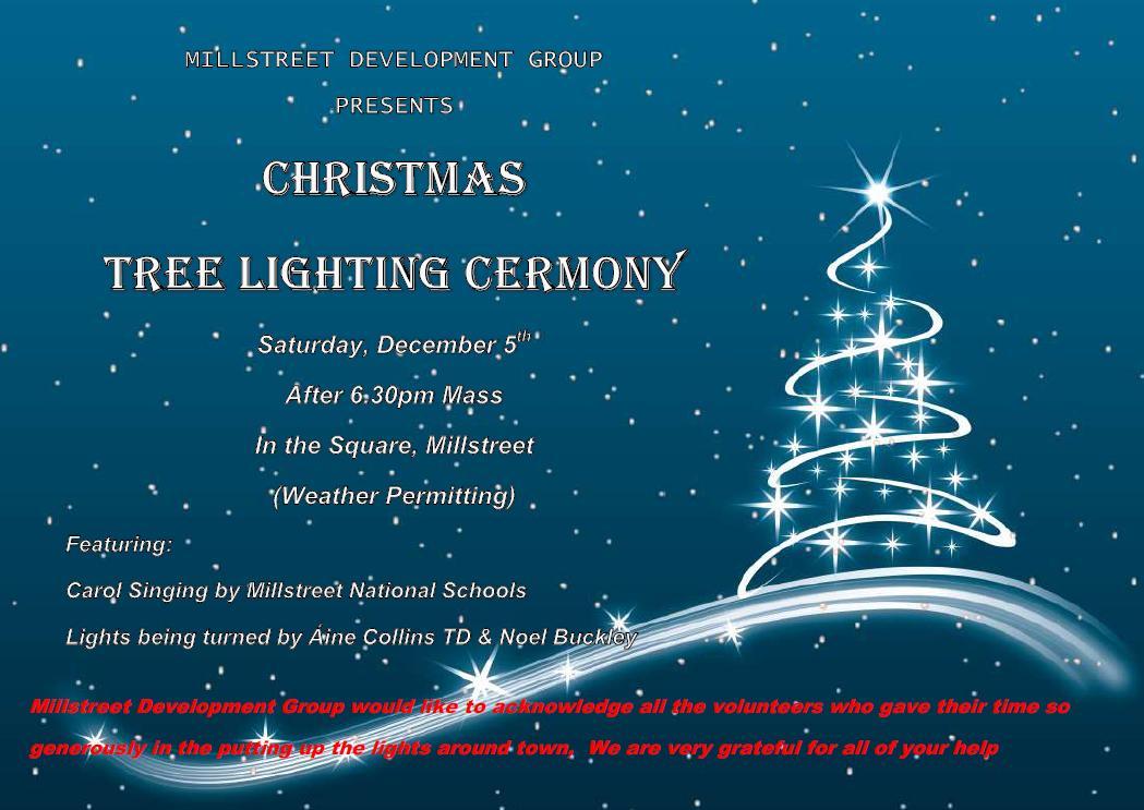 Christmas Tree Lighting Ceremony – Millstreet.ie