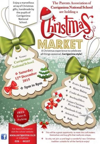 2015-12-12 Carriganima NS Christmas Market - poster