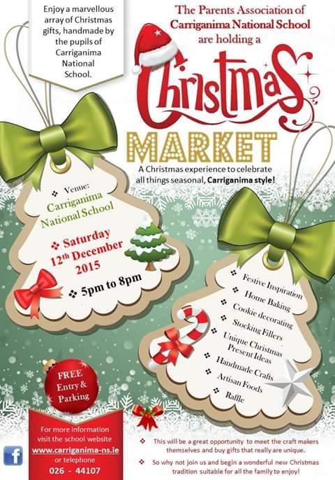 2015 12 12 carriganima ns christmas market poster - Christmas Poster Ideas