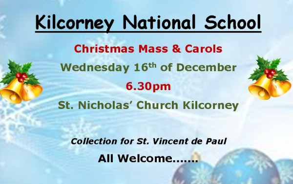 2015-12-16 Kilcorney NS Christmas Mass and Carols - poster