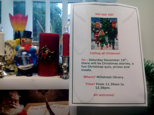 2015-12-19 Festive Fun at Millstreet Library - poster_