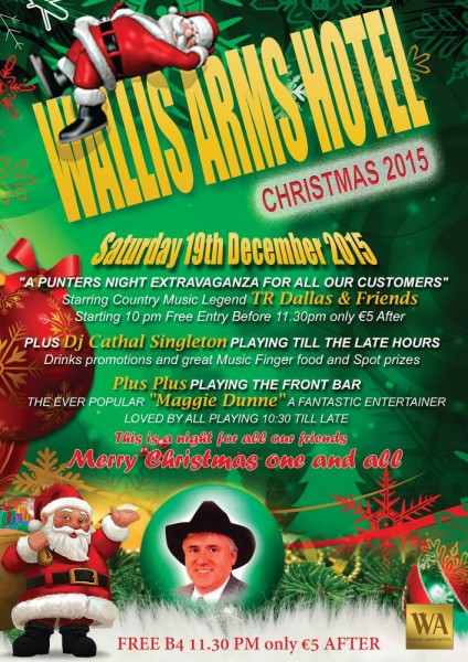 2015-12-19 Wallis Arms Christmas Party for Customers - poster_1000b