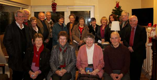 Margaret McCarron (seated third from left) presented a most enjoyable programme with 23 different selections at Friday's Millstreet Gramophone Circle. Here we view just some of the very large attendance at this special Christmas presentation. Click on the images to enlarge. (S.R.)