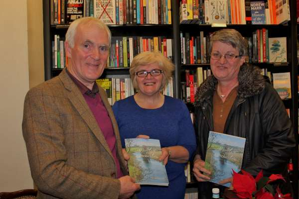 "Author Jim O'Malley with Annmarie Burke and Sheila O'Keeffe of IRD Duhallow at the November Book Launch in Cork. ""Walking the River Blackwater"" is a fascinating book documenting Jim's courageous walking of the entire length of the Munster Blackwater. Millstreet features quite significantly. The photographs, writing and maps are excellent and it truly makes a great Christmas gift. It's on sale at ""Wordsworth"" Millstreet and in towns along the Blackwater and beyond. Click on the images to enlarge. (S.R.)"