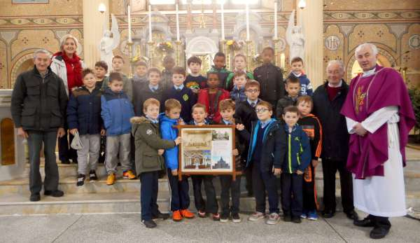 At St. Patrick's Church, Millstreet after 10.00 a.m. Mass on Monday, 21st Dec. 2015 which was attended by the Pupils and Teachers of Scoil Mhuire, Millstreet B.N.S.