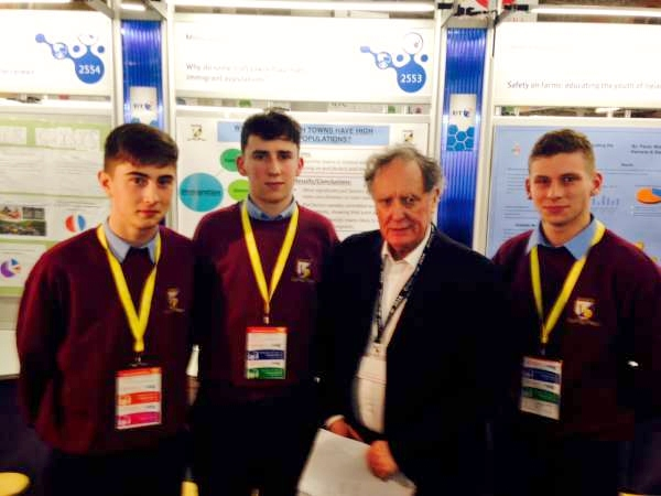 Padraig James and Shane with Vincent Browne