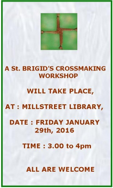 2015-02-01 St.Brigid's Crossmaking Workshop - poster