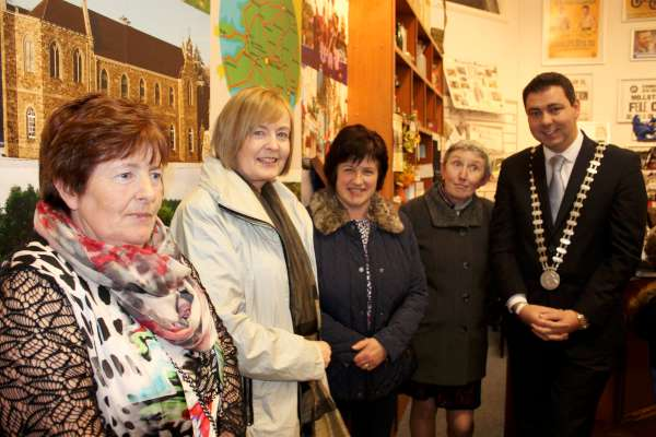 Cork County Mayor, Cllr. John Paul O'Shea pictured at the official reopening of Millstreet Museum on 14th Oct. 2015. In County Hall, Cork on Monday 25th January 2016 he is holding one of special receptions - the details of which may be seen below. Click on the image to enlarge. (S.R.)