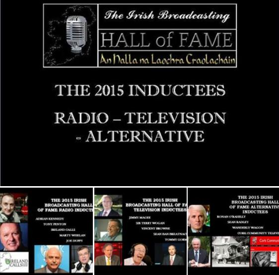 2015 Irish Broadcasting Hall of Fame - Seán Radley Inducted