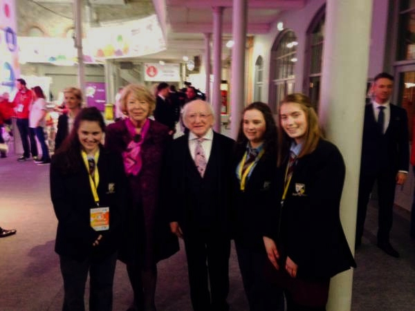 Noelle Katelyn and Kate with president Higgins and his wife