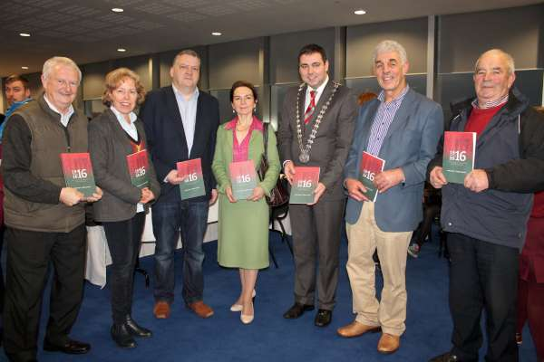 The official launch of the 1916-2016 Programme took place on the 17th Floor (topmost level) of Cork Co. Hall on 14th Dec. 2015.  Click on the images to enlarge.  (S.R.)