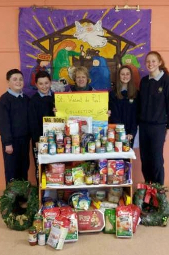 6th Class Children of Derinagree NS who every year organise a Food collection for St. Vincent de Paul. A big 'Thank you' to all who donated for this very worthy local cause.
