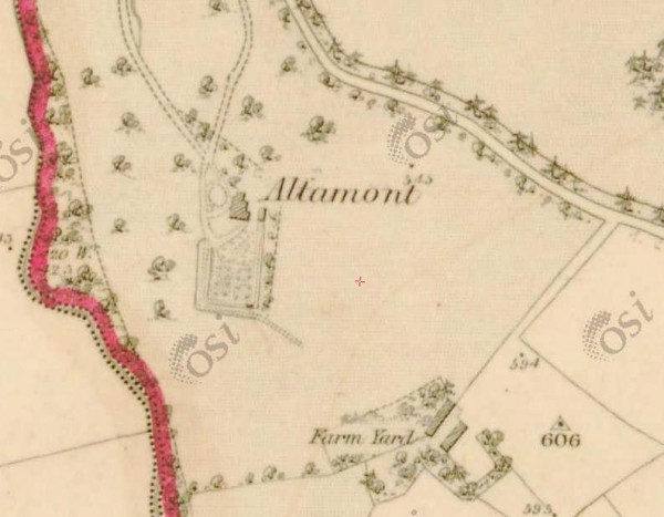 1840 Altamount House map