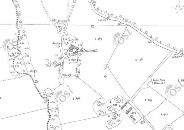 1900 Altamount House map