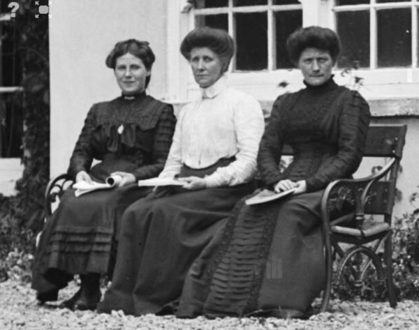 1909 Ladies seated outside Altamount House- Mrs O'Callaghan is seated in the middle