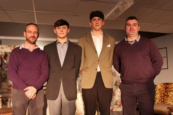 "It has been 24 years since the parts of ""Captain Brennan"" was played by (from left) Tony McCaul in 1992 now played by Colm O'Leary in 2016 - while James Cronin is ""Fluther Good"" in 2016 and Jason O'Sullivan was also excellent in the same role in 1992."