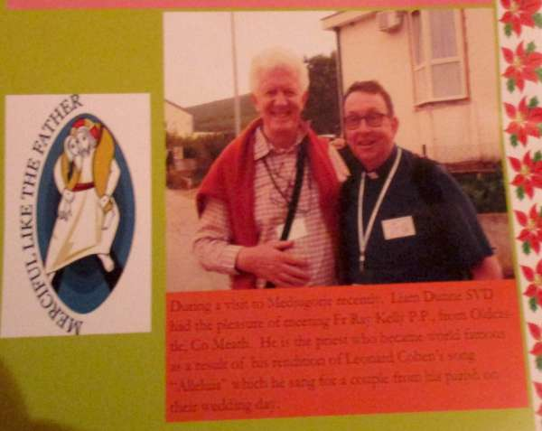 Fr. Liam pictured with Fr. Ray Kennedy, the Singing Priest - in Medjugorje,