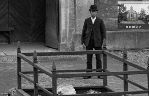 1900s Jack 'the Clerk' Murphy in front of Millstreet Church