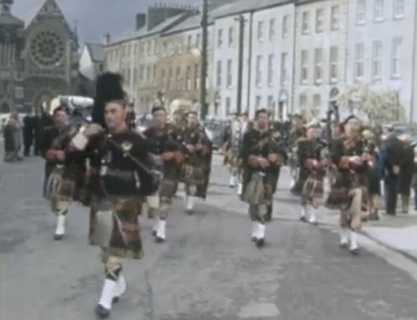 1966 Millstreet Pipe Band lead out the 50th anniversary Parade of the 1916 Rising in Tralee 02