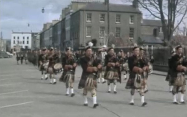1966 Millstreet Pipe Band lead out the 50th anniversary Parade of the 1916 Rising in Tralee 03