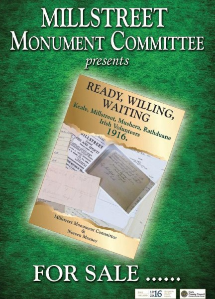 2016-03-12 Book Cover - Ready, Willing, Waiting - Keale, Millstreet, Mushera, Rathduane Irish Volunteers 1916 - for sale