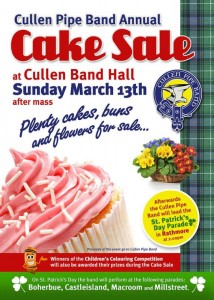 2016-03-13 Cullen Pipe Band Cake Sale - poster
