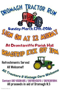 2016-03-13 Dromagh Tractor Run - poster