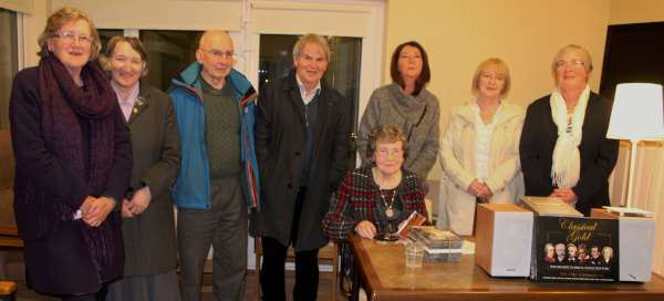 Margaret Moynihan of Killarney Road, Millstreet (seated) truly delighted the capacity audience at Millstreet Day Care Centre on Friday night (18th March 2016) when she shared some 24 tracks of musical gems.  Picture here with just some of the many who attended.  Click on the images to enlarge.  (S.R.)