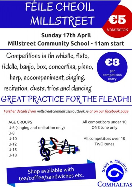 2016-04-17 Millstreet Feile Cheoil Poster-1000