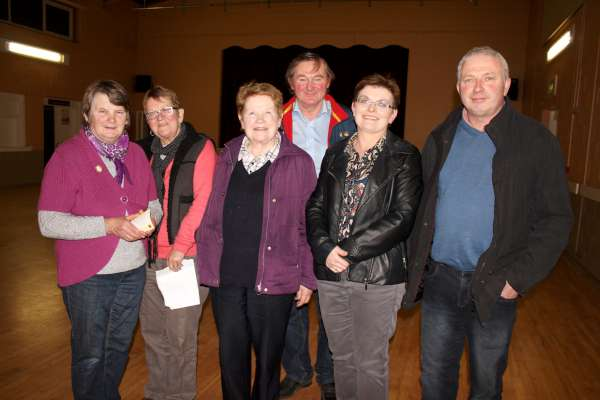 Members of the Clondrohid/Carriganima Community Text Alert Committee pictured at Clohdrohid Hall on Monday night, 4th April 2016. Some 150 people have now joined with over 30 having signed up at the meeting making it one of the most successful Community Text Alert Groups to have been established. Click on the images to enlarge. (S.R.)
