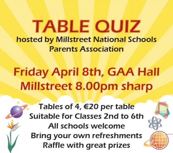 2016-04-08 Parents Association - Table Qiuz - poster