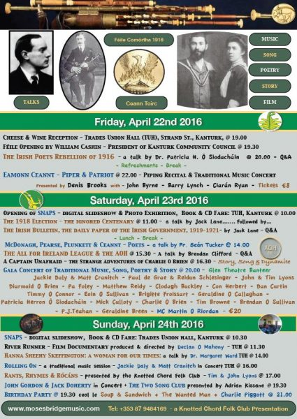 2016-04-21 Programme for the Kanturk Feile - poster