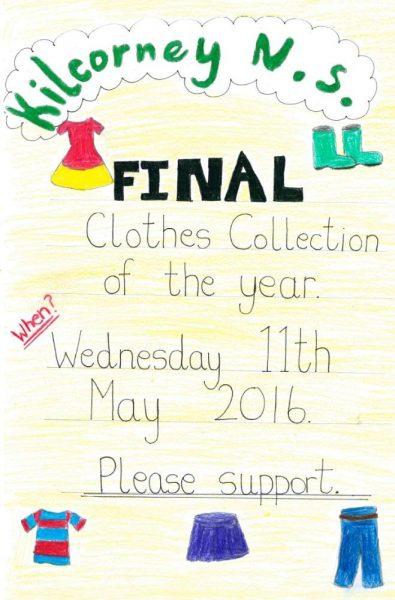 2016-05-11 Kilcorney NS Clothes Collection - poster