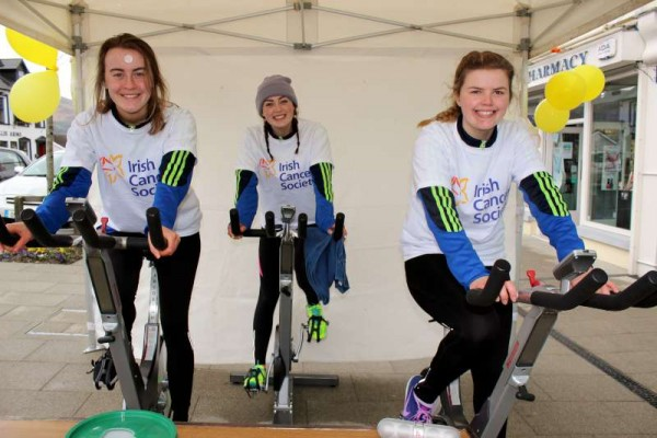 "Sincere congratulations to the three wonderfully energetic participants in Saturday's ""Spin-a-thon"" in aid of the Irish Cancer Society at The Square, Millstreet. From left maeve McLoughlin, Ruth O'Connor and Sophie O'Leary. Click on the images to enlarge. (S.R.)"