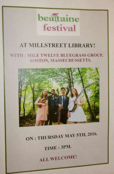 We thank Breda at Millstreet Library for the interesting notice.  (S.R.)