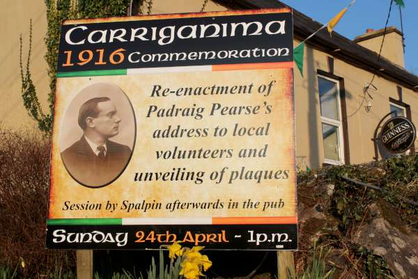 This is truly going to be a magnificent event in Carriganima on Sunday 24th April 2016....judging by the hugely interesting preparatory meetings being held at The Pub in Carriganima. Eddie Walsh and his excellent fellow members of the Commemorative Committee