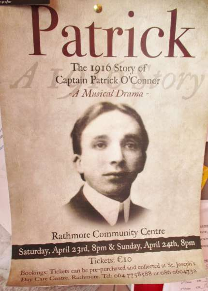 We thank John O'Sullivan for alerting us to this highly significant 1916 Play in Rathmore. An extra performance (due to the enormous interest in the production) has been added for Monday night. Click on the images to enlarge. (S.R.)