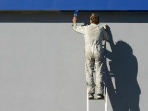painting outside wall