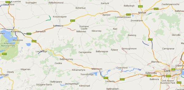 2016-05-06 New and Current Speed Camera Zones around Millstreet