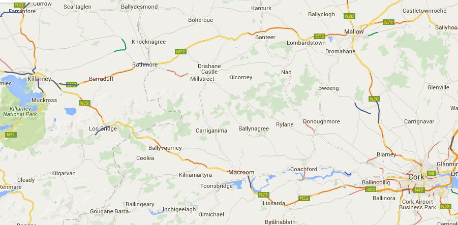 2016-05-06 New and Current Speed Camera Zones around Millstreet