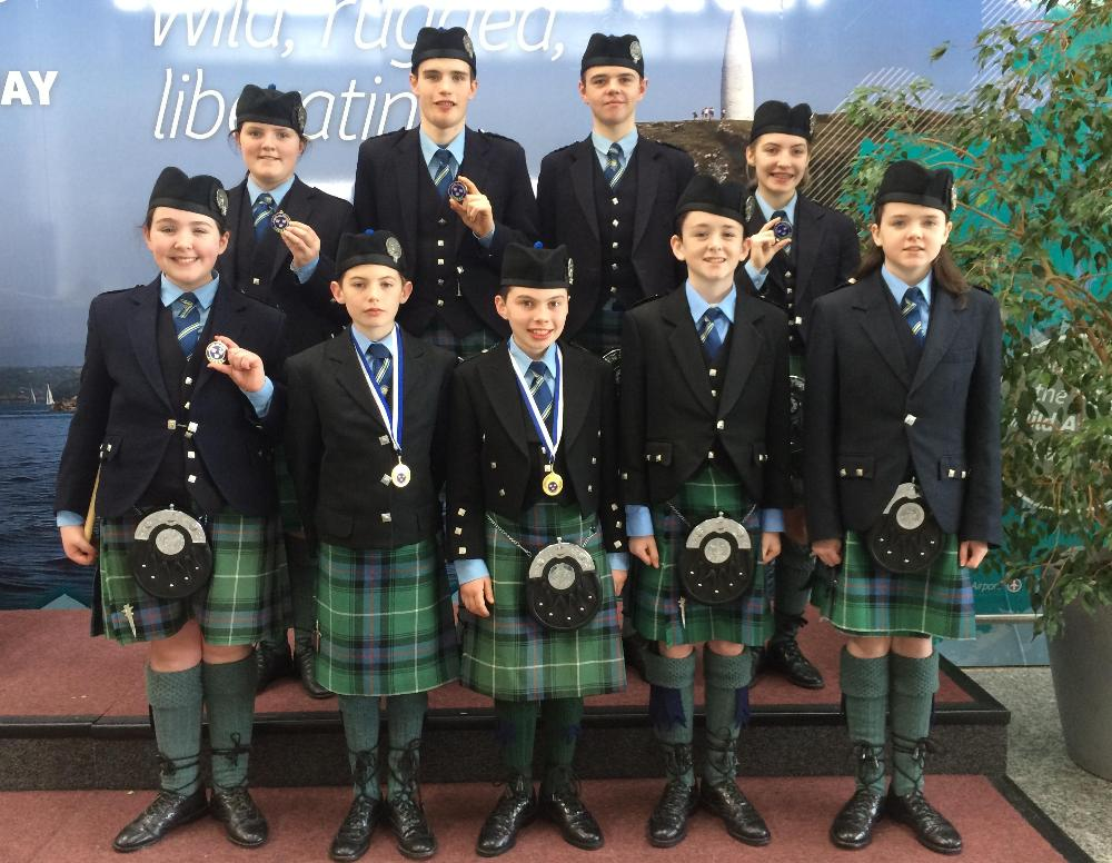 2016-05-31 Cullen Pipe Band memebers pictured recently after the Munster Solos Contest held in Newcastlewest