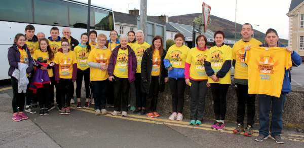 "Some of the many Millstreet participants pictured just after 7.00 this Saturday morning having returned from the 2016 ""Darkness into Light"" 5K Walk in Killarney. The truly inspiring experience in the exquisite setting of Killarney National Park was superbly organised and coordinated by a wonderfully dedicated Team. The Killarney Walk is held in memory of the late Nathan Carroll and has become one of the most successful events promoting assistance for the marvellous work of Pieta House. Click on the images to enlarge. (S.R.)"