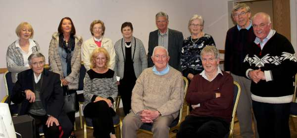 "A capacity audience thoroughly enjoyed a truly wonderful presentation by Maurice Linehan (seated on extreme right) at Boherbue's ""Music Room"" on Thursday, 5th May 2016. Pictured here are just a section of the enthusiastic audience including the coordinators. The location for the monthly get together is a the Pearse Memorial Hall close to Boherbue Church. Click on the images to enlarge. (S.R.)"