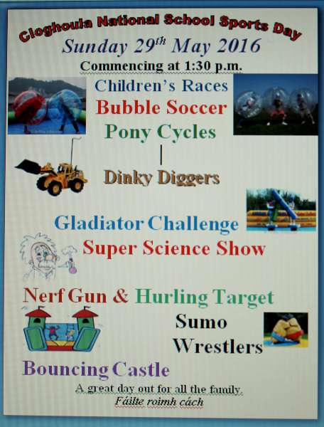 Cloghoula N S  School Sports Day on Sun  29th May 2016