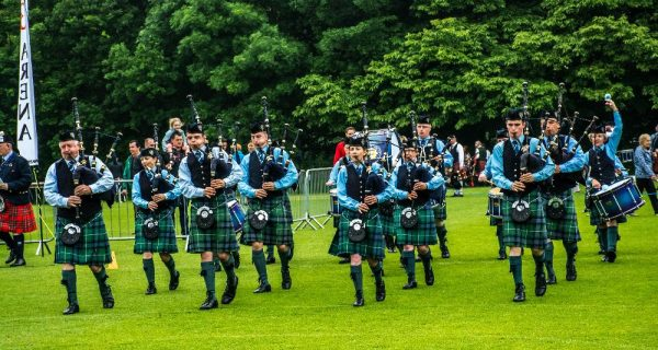 2016-06-11 Cullen Pipe Band pictured performing a the UK Championships held in Stormont Belfast