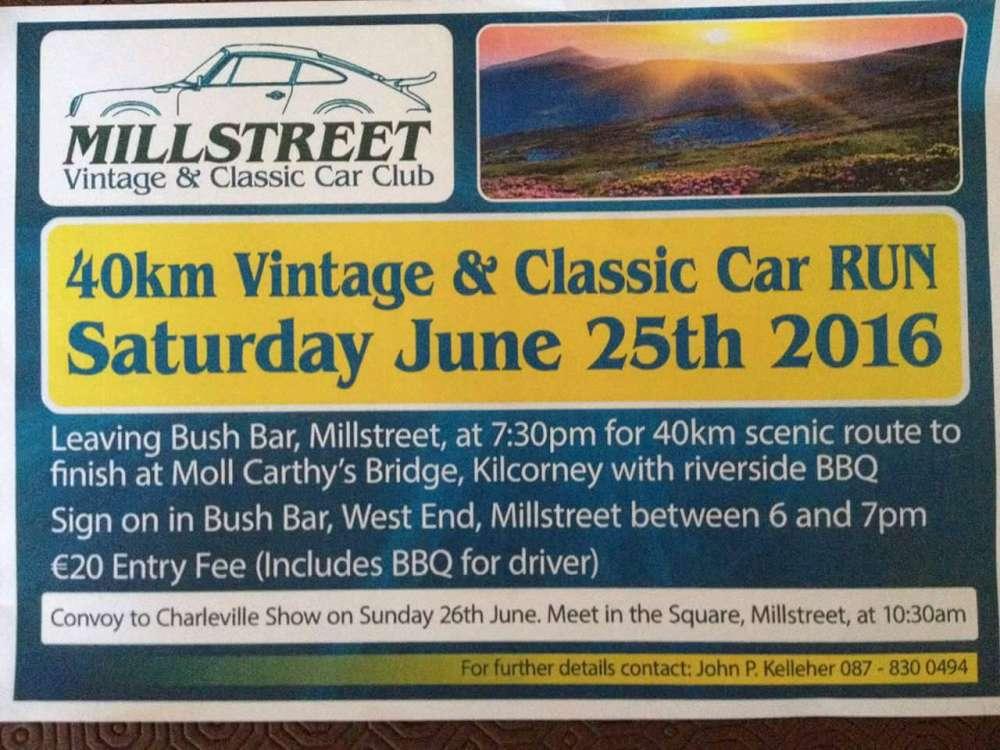 2016-06-25 Vintage Car Run - poster