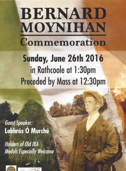 2016-06-26 Bernard Moynihan Commemoration - poster